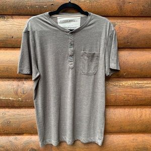 Banana Republic Gray Pocket Vintage T Shirt M